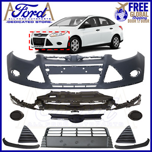 Ford Focus 2011 2012 2013 2014 Front Bumper Cover Kit W o Fog Lights Complete