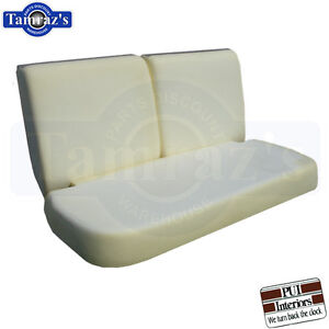 71 72 Gm A X Body Bench Seat Foam Cushion 3 Pieces Pui New