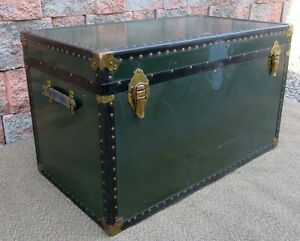 Vintage Wilbur Guth S Steamer Travel Trunk With Tray Foot Locker Coffee Table