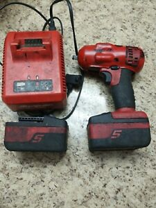 Snap On 18v 3 8 Impact Wrench Ct8810a Bundle 2 4 0 Batteries Charger Used