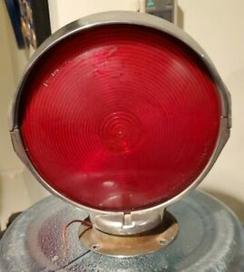 Vintage Signal Stat 364 Chrome Lollipop Double Side Light Beacon Bus Fire Truck