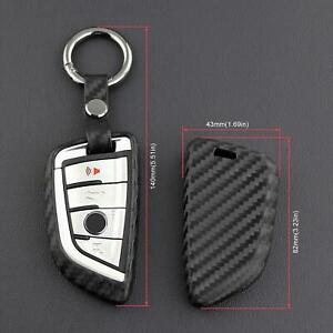 Carbon Fiber Key Fob Case Cover For Bmw F45 F46 G20 G21 G30 G31 G32 F39 F48 F90