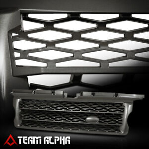 Glossy Gray Autobiography Style Bumper Grille grill Fits 06 09 Range Rover L320