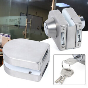 Stainless Steel 10mm 12mm Double Glass Door Lock Latch Home Security Anti theft