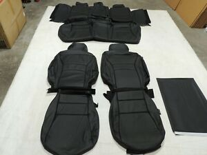 Leather Seat Covers Interior Fits Honda Accord Sport Ex 2016 2017 Black X30