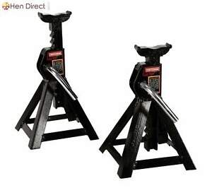 Rugged 2 25 Ton Jack Stands Rises Quickly W wide Stable Base counter Weight Pawl