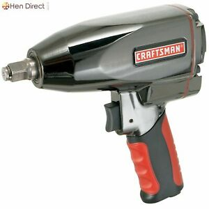 1 2 Air Tool Impact Wrench Low Noise W Comfort Grip And 400 Ft Lbs Max Torque