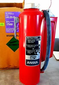 New Purple K Ansul Red Line Fire Extinguisher Type Ii Class 2 Size 20 Type Bc