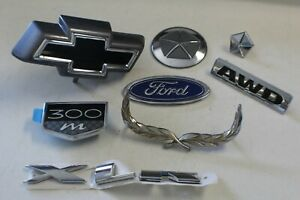 Lot Of Automotive Emblems Ford Chrysler Chevy