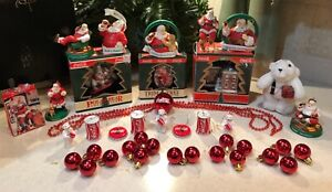 Large Coca Cola Christmas Tree Hanging Ornament Lot of 21
