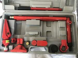 4 Ton Porta Power Hydraulic Long Ram Jack Lift Autobody Frame Repair Tool Kits