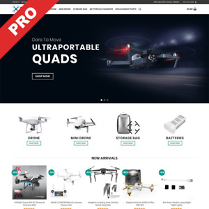 Drones Store Ready made Dropshipping Website Business For Sale