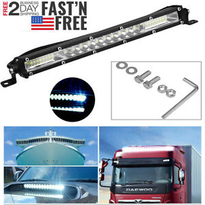 12inch 450w Led Work Light Bar Combo Spot Flood Driving Off Road Suv Boat Atv