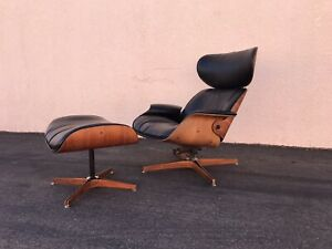 Mid Century George Mulhauser Plycraft Lounge Chair W Ottoman Vintage Eames Era