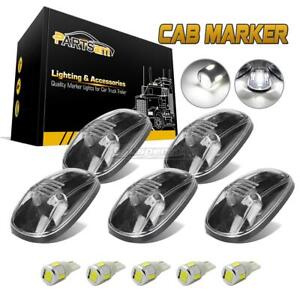 5x264145cl Clear Cab Top Clearance Light 158 5730 White Led Bulb For Dodge 99 02