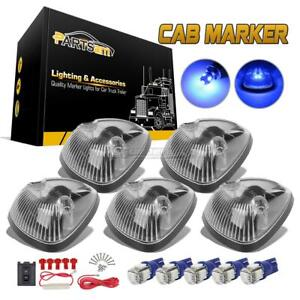 5pc T10 5050 Blue Led 264141cl Roof Running Clear Lights For Dodge Ram 2500 3500