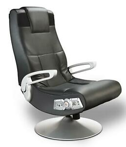 X Rocker Se 2 1 Black Leather Video Gaming Chair For Adult Teen And Kid Gamers