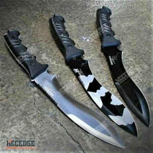 13.5quot; Tactical Fixed Blade Kukri Survival Hunting Army Camo Knife w Sheath $26.32