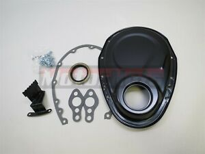 Black Small Block Chevy Timing Chain Cover Kit 327 350 383 400 Sbc Gasket Seal
