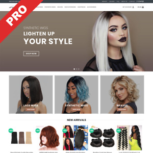 Hair Extensions Wigs Store Ready to go Dropshipping Website Business