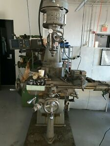 Southbend 9 x 32 Vertical Milling Machine Dro power Feed Variable Speed Motor