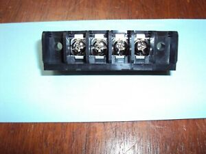 4 position Chassis Mount Single Row Barrier Terminal Block 11 125 Mm Pitch Nos