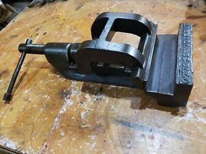 Antique Large 7 5 Machinist Dovetail Base Machinist Vise Randall Co Blacksmith