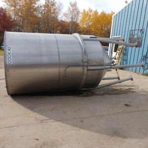 1500 Gallon Stainless Steel Jacketed Cone Bottom Tank