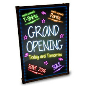 Led Back Lit Erasable Message Board 24 W X 31 5 H Inches