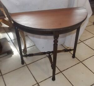 Mahogany Demilune Entry Table Side Table