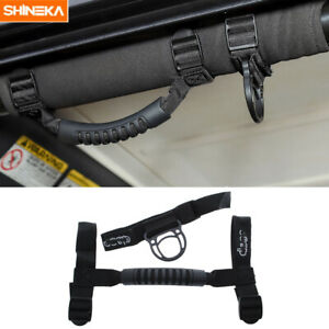 2x Rooftop Cargo Tie Down Hooks Coat Clothers Straps grab Handle For Jeep Tj Jk
