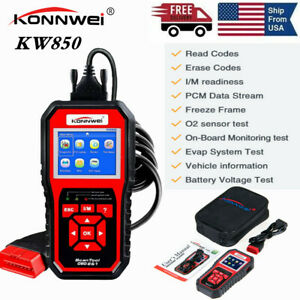 Konnwei Kw850 Obd2 Engine Code Reader Auto Car Diagnostic Tool Battery Tester