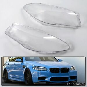 Pair Headlight Cover Clear Lens Fit Bmw 5 series F10 Lci F11 Lci F18 Lci 520 523