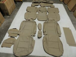 Leather Seat Covers Interior Replacement Fits Nissan Armada Sv 2013 2014 Tan X60