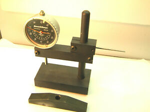Brown And Sharpe Dial Indicator W Two Stands Machinist Mechanic Shop Tool