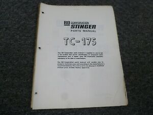 Ro Stinger Tc175 Tc175 73 Telescopic Boom Truck Crane Parts Catalog Manual