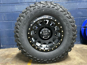 17x8 5 Method Mr305 Nv Wheels 285 70r17 33 Mt Tires 6x5 5 Chevy Suburban Tahoe