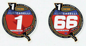 Kurt Caselli 3 Times Champion Vintage Racing Decals Stickers Die Cut Lot Of 2