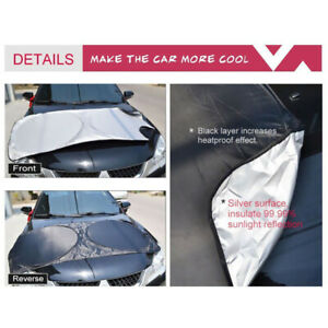 Front Rear Car Window Foldable Windshield Sun Shade Shield Cover Visor Uv Block