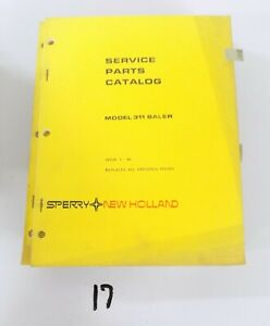 New Holland 311 Hay Baler Hayliner Parts Catalog Book Manual 1 84