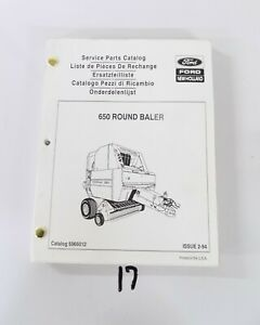 Ford New Holland 650 Round Baler Service Parts Catalog 5065012 2 94