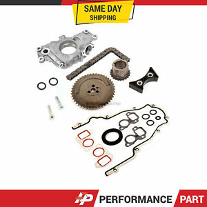 Timing Chain Kit Cover Gasket Oil Pump For 03 07 Cadillac Buick Gm 4 8 5 3 6 0