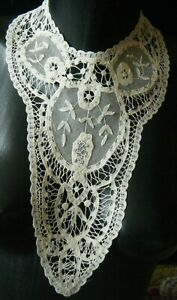 Old Antique Collar Combo Brussels Point De Gaze Princesse Lace H Made