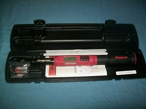 New Snap on 3 8 Drive 5 To 125 Ft Lb Techangle Torque Wrench Atech2f125vr 2019