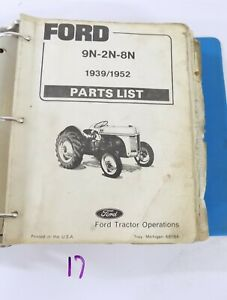 1939 1952 Ford 9n 2n 8n Tractor Parts List Catalog 4 Cylinder 48084