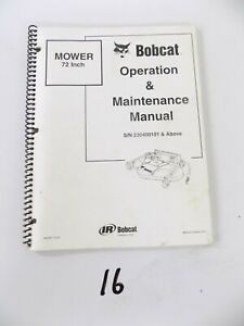 Bobcat 72 Mower Attachment Operation And Maintenance Manual S n 230400101 Up