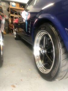 17 American Racing Black Powder Coated And Polished Aluminum Wheels