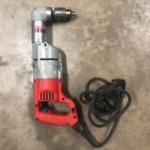 Milwaukee 1107 1 Hd Heavy Duty Corded 1 2 Half Inch Two Speed Right Angle Drill