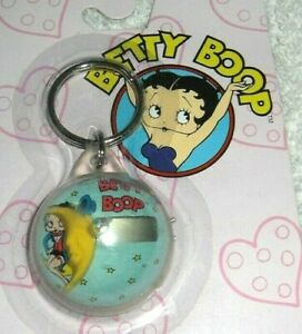 Vintage Original Car Truck Van Betty Boop Bubble Clock Key Ring Holder Nos Mip