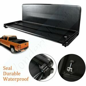 Us For 2005 2018 Nissan Frontier 5ft Bed Tonneau Cover Hard Solid Tri fold
